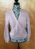 Madewell Pink Roving Wrap Balloon Sleeve Sweater S