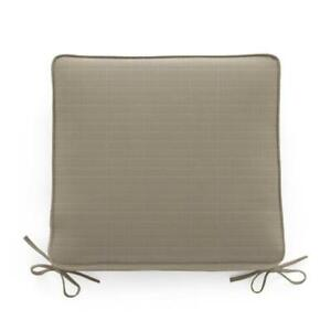 Frontgate Set of 4 Sunbrella Double-Piped Outdoor Chair Cushions 21x19 Rain Dove