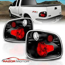 1997 2000 For Ford F 150 Flareside Altezza Style Black Rear Brake Tail Lights Fits 1997 Ford F 150