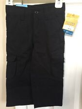 Sonoma Black 2T Cargo Pants 33-36 Inch 27-30 Lbs Slide Button Adjustable Waist