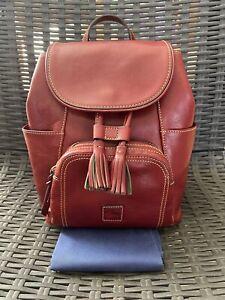 Dooney & Bourke Medium Murphy Backpack Florentine Leather Bordeaux