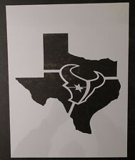 "Houston Texans State of Texas 8.5"" x 11"" Custom Stencil FAST FREE SHIPPING"