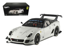 1/18 Hot Wheels Elite Ferrari 599XX Evo #2 Diecast Model Car White BCJ92