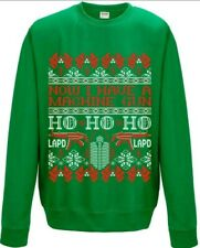 Men's Green Die Hard Christmas Jumper Now I Have A Machine Gun Extra Large (XL)