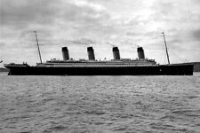 New 5x7 Photo: Side View of RMS TITANIC Ship, Ill-Fated Ocean Liner - 1912