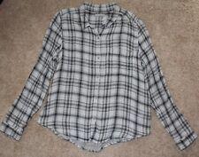 NEW Calvin Klein Men's black and white checked long sleeve shirt 100% cotton