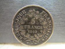 monnaie piece 5 F francs 1849 A
