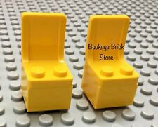 LEGO Minifig YELLOW CHAIR - Truck Car Seats - New & Used - Lot of 2