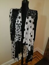 Vintage Virginie France eclectic black white jacket 1980's glam rare beautiful
