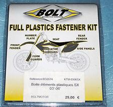 kit visserie de plastiques BOLT KTM SX XC 125 144 150 200 250 300 450 525 540