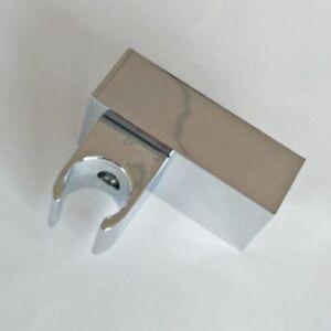 BATHROOM ADJUSTABLE SHOWER HEAD HANDSET HOSE SQUARE WALL BRACKET HOLDER