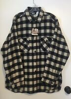 Vintage New Woolrich Wool Blend Buffalo Plaid Flannel Shirt Men's L