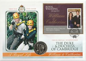 BIOT 29 APRIL 2011 ROYAL WEDDING MINIATURE SHEET COIN FIRST DAY COVER