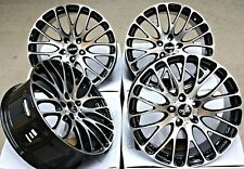 "19"" ALLOY WHEELS 5X112 19 INCH ALLOYS CRUIZE 170 BP BLACK POLISHED FACE CONCAVE"