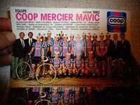 Ancienne Carte de l'Equipe Cycliste des Anciens Vélo Coop Mercier Mavic 1982