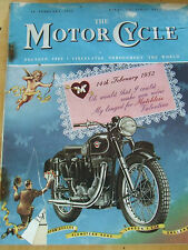 THE MOTORCYCLE MAGAZINE FEB 1952 GEORGE VI HIRE PURCHASE AGREEMENTS WIDE PRICE