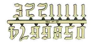 Old English Gold Clock Numerals -Numbers 1-12 - Stick On Choose 4 Sizes!