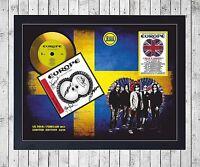 EUROPE LAST LOOK AT EDEN CUADRO CON GOLD O PLATINUM CD EDICION LIMITADA. FRAMED