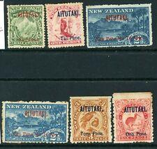 Aitutaki 1903 Sg 1 to 6 mixed condition MM
