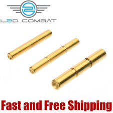 L2D Combat Polished Stainless Steel Pin Set for Glock Gen 1-3, Titanium Nitride