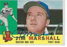 JIM MARSHALL SIGNED 1960 TOPPS #267 - BOSTON RED SOX