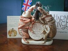 Harmony Kingdom See No Weevil Box Figurine 3 Boll Weevils Uk Made Nib
