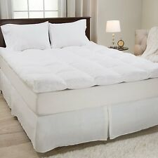 Mattress Topper 4 Inch Full Size Lavish Home Gusset Down & Duck Feather