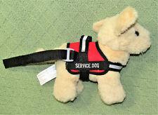 "9"" SERVICE DOG STUFFED ANIMAL PLUSH PUPPY GOLDEN RETRIEVER LABRADOR LEASH VEST"