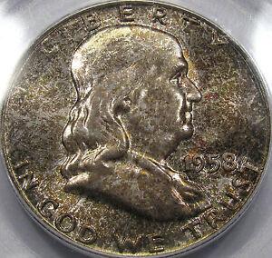 1958 Franklin Half Dollar Superb Gem BU PCGS/CAC MS-66...Superb Mint Set Toning!