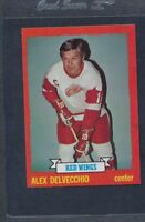 1973/74 Topps #141 Alex Delvecchio Red Wings NM *380