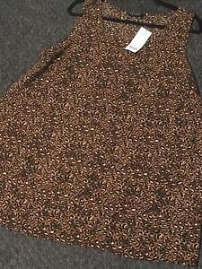 Brown Beige Black Sleeveless Top Evans New Size 20