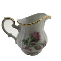 Edelstein Bavaria Maria Theresia Moss Rose Creamer Gold Trim
