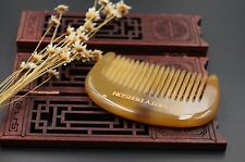 Genuine Mini OX Horn Comb Bread Comb Fine-toothed Health Hair and Beard Comb