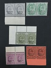 MOMEN: INDIA NABHA SG #37/45 PAIRS MINT OG NH LOT #193898-2404