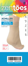 ZenToes Achilles Tendon Support Heel Socks Brace Compression Padded Sleeves Pair