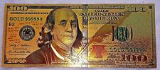 Gold $100 Dollar Bank Note Old Independence Hall Paper Money Ideal Gift Unusual