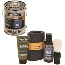 Man Can Mens Toiletry Grooming Gift Set Kit Face Wash Shaving Cream Shave Brush