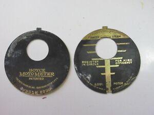 Vintage 1920's Boyce Motometer PARTS original plates (Hudson Equip)