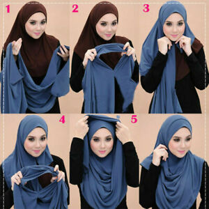 Instant Double Loop Chiffon Style Scarf/Hijab Shawl/Wrap 24 Colors