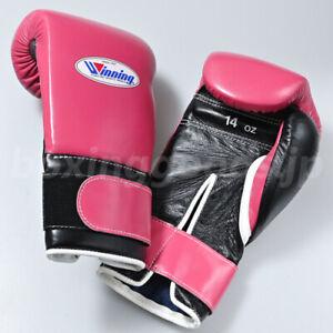 Winning Boxing gloves Tape type 14oz Dark Pink x Black from JAPAN FedEx tracking