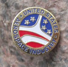 United States Aerospace Industry USA Aviation Space Military Defense Pin Badge