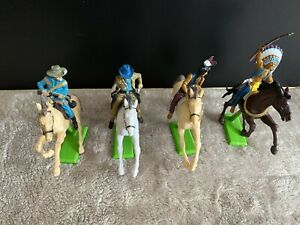 Britains wild west mounted cowboys and indians
