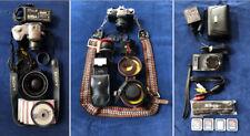 Lot of 3 Cameras w/ extras, lenses, bag- Sony Mvc-Cd400 Minolta Xg7 Nikon S9100