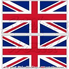 BRITISCHE Union Jack Flagge GROßBRITANNIEN Fahne GB 140mm Aufkleber x2 Stickers