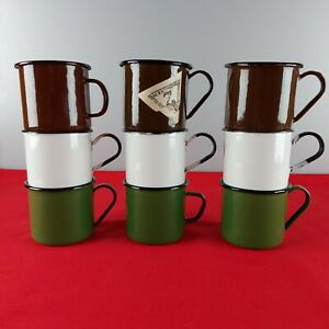 3 PCS Original USSR Metal Mug Soviet Russian Army Soldier vintage Enameled Cup