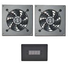 PROCOOL AVX-280T Dual Fan Temp controlled Cabinet Fan system