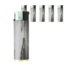 Vintage Alien Abduction D6 Lighters Set of 5 Electronic Refillable Butane