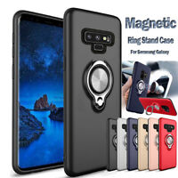 For Samsung Galaxy Note 9 S8 Car Holder Stand Magnetic Bracket Finger Ring Case