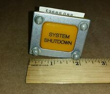"Cutler-Hammer 6981ED166-1310 Light Indicator ""System Shutdown"" Pushbutton Switch"