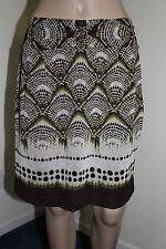 Worthington Womens Segovia Border Print Skirt NWT Size PETITE 10